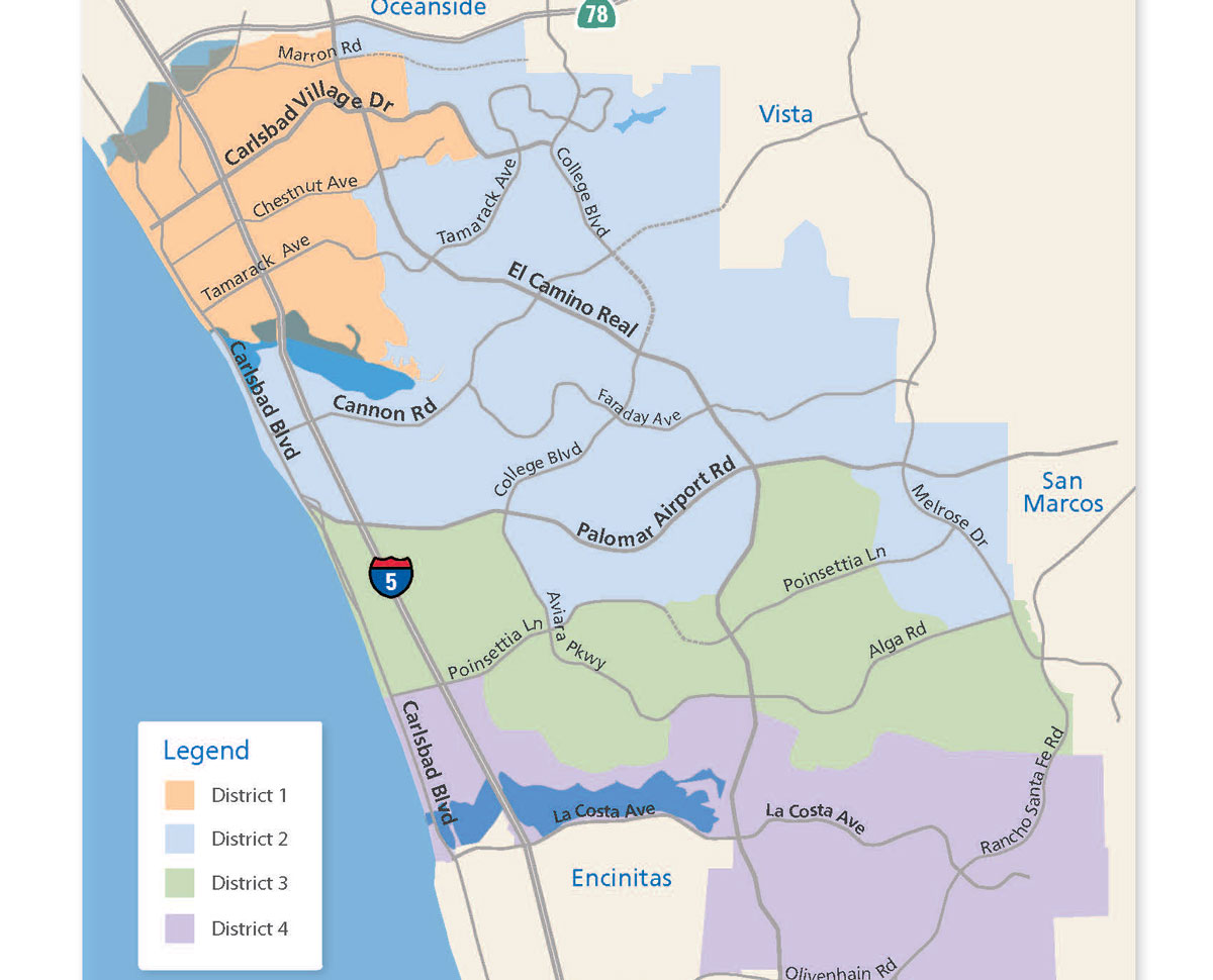 Carlsbad District Map