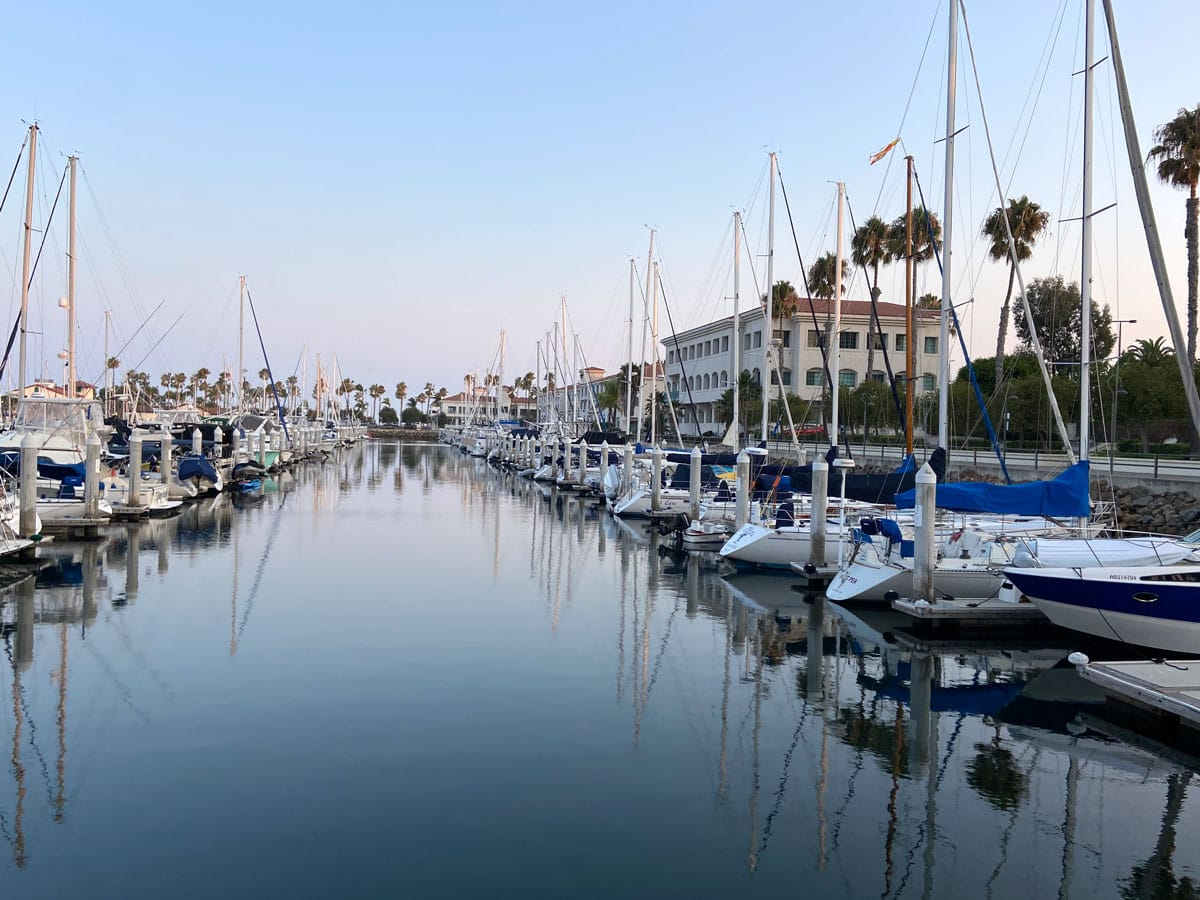 The Doubletree by Hilton on the Cabrillo Marina is within a 10-minute walk of Cabrillo Beach and several waterside restaurants with marina views. Photo by E'Louise Ondash