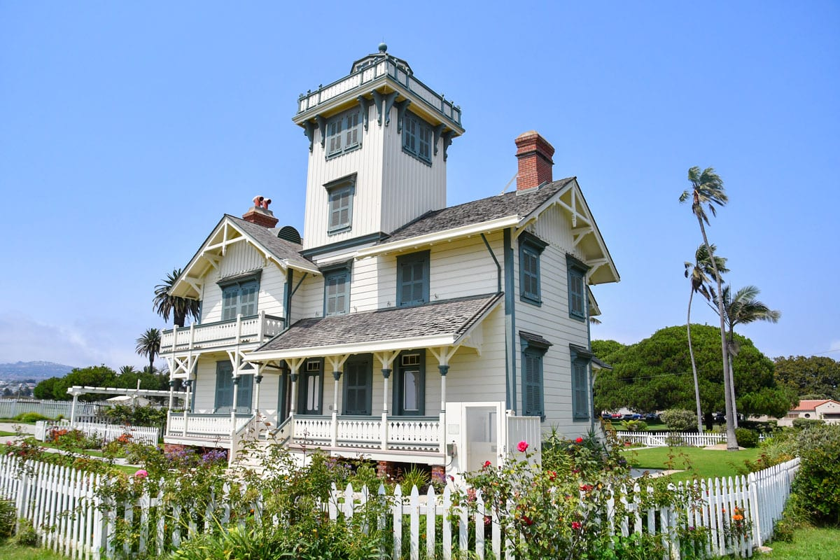 The Point Fermin Lighthouse, in San Pedro's Point Fermin Park, was built in 1876 and is the oldest navigational lighthouse on the West Coast. Photo by Jerry Ondash