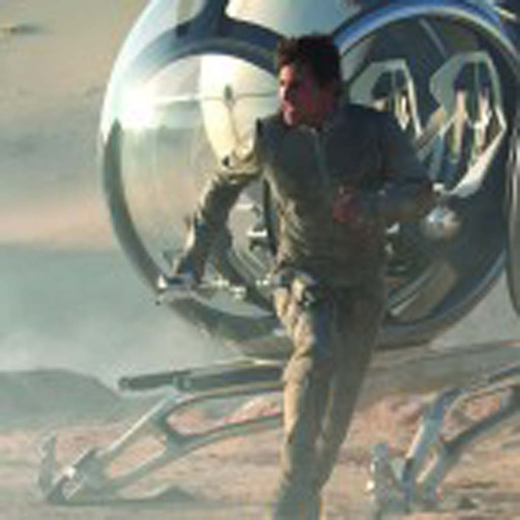 """Tom Cruise is Jack Harper, a security repairmen stationed on an evacuated Earth in """"Oblivion."""" Photo by David James"""