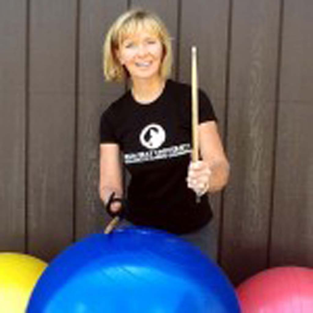 Jen Dagati, who teaches Drumming Fit through the Encinitas Senior Center, was featured by The New York Times and CNN late last year. Eventually she hopes to use her technique to help veterans with PTSD. Dagati is able to teach cardio fitness drumming despite the fact that she was born without a right hand. Courtesy photo