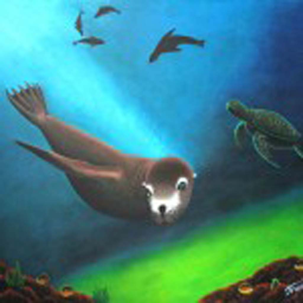"""""""Wendell,"""" painted by Brian Torch, and inspired by the harbor seal colony in La Jolla, was selected for the California Contemporary Artists Collection. Wendell will be showcased in the California State Capitol until September 2014. Courtesy photo"""