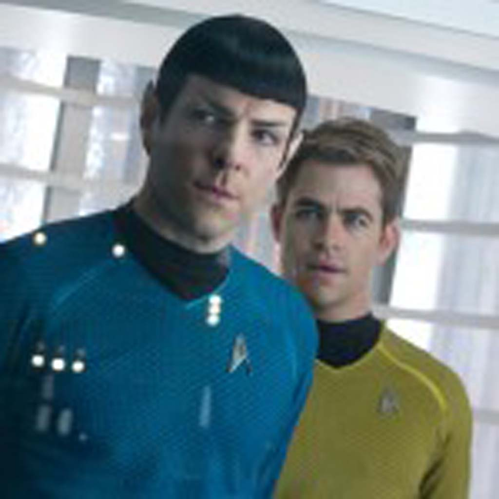 """Zachary Quinto, left, is Spock and Chris Pine is Kirk in """"Star Trek Into Darkness,"""" now in theaters. Photo by Zade Rosenthal"""