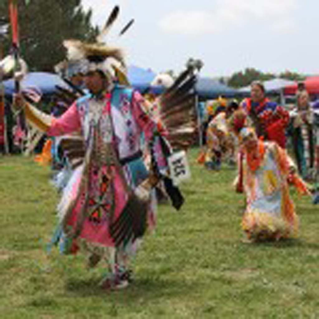 The inter-tribal Powwow at Mission San Luis Rey will draw more than 200 dancers for two days of dance competition. Tribes from California, Nevada and New Mexico will participate. Photo by Promise Yee