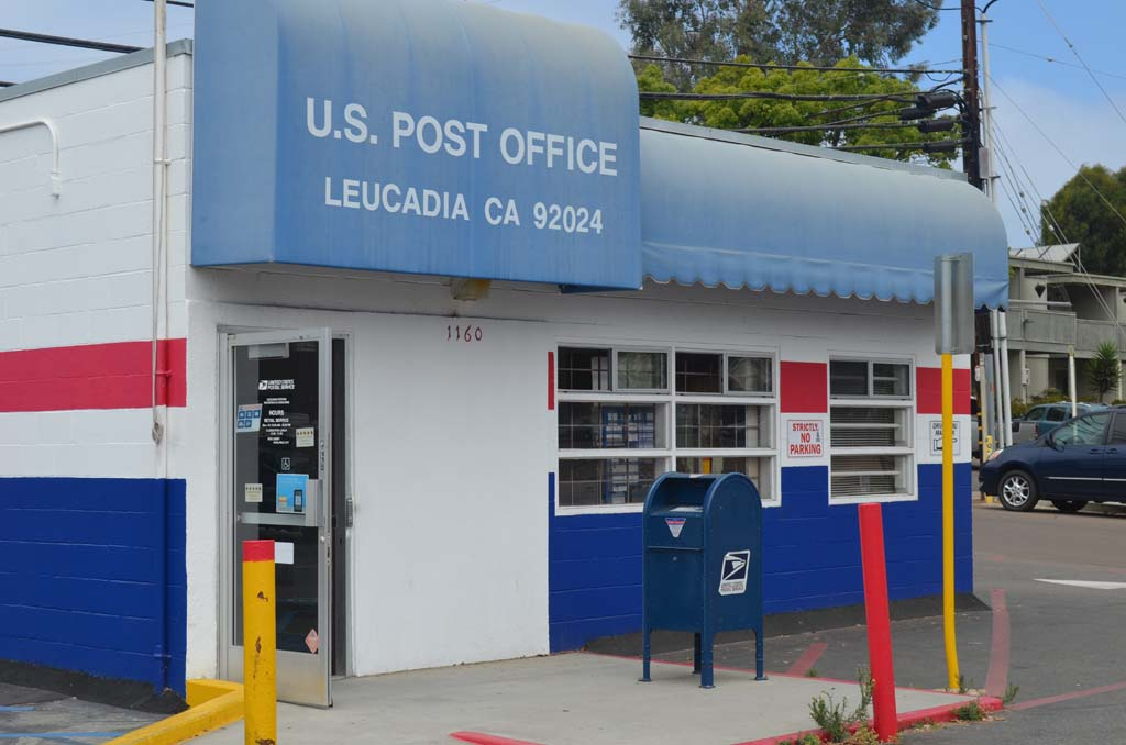 United States Postal Service Headquarters approves a study Tuesday on the feasibility of closing the Leucadia Post Office. There is no timetable for when the study will begin or how long it will take. Photo by Tony Cagala