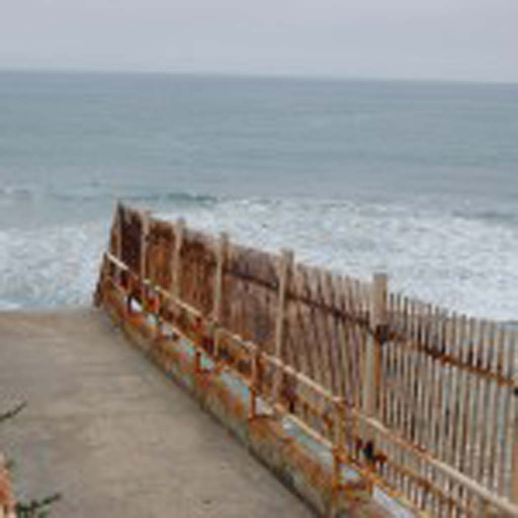City Council adopted a $26.1 million budget for the current fiscal year that started July 1. It does not include any money to replace the beach-access stairway, adjacent to Del Mar Shores Terrace condominiums, that has been closed for safety reasons since November, or to improve the stairs at Tide Beach. The two projects, which total $1.5 million, are only half funded. Photo by Bianca Kaplanek