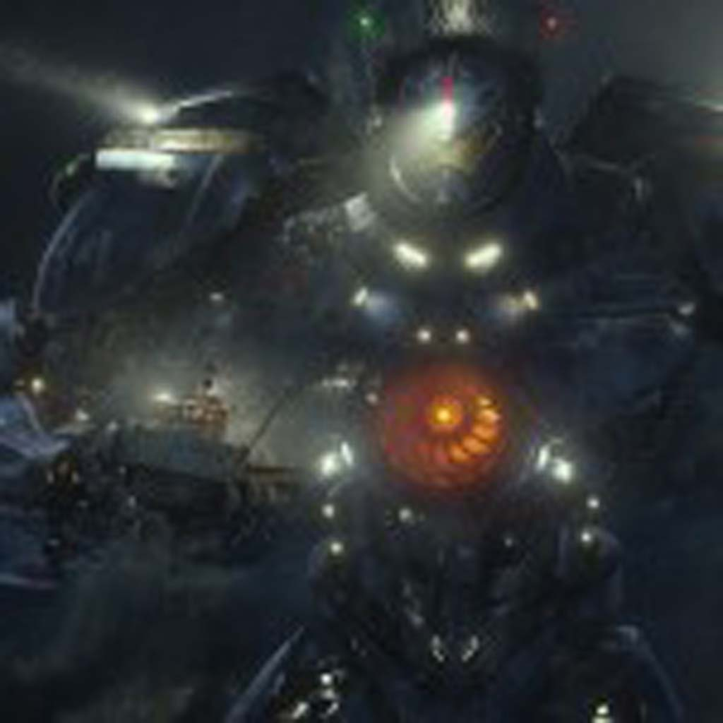 """The United States' Gipsy Danger moves a crab fishing boat out of dangerin a scene from the sci-fi action adventure """"Warner Bros. Pictures and Legendary Pictures Pacific Rim."""" Photo courtesy of Warner Bros. Pictures"""