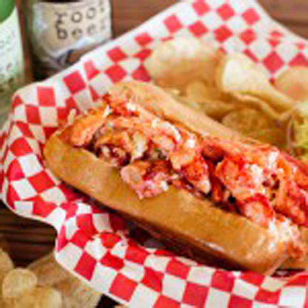 The signature Maine Lobster Roll that can be found at Lobster West. Their Maine lobster is 100 percent certified and sustainable. Photo courtesy of Scout PR