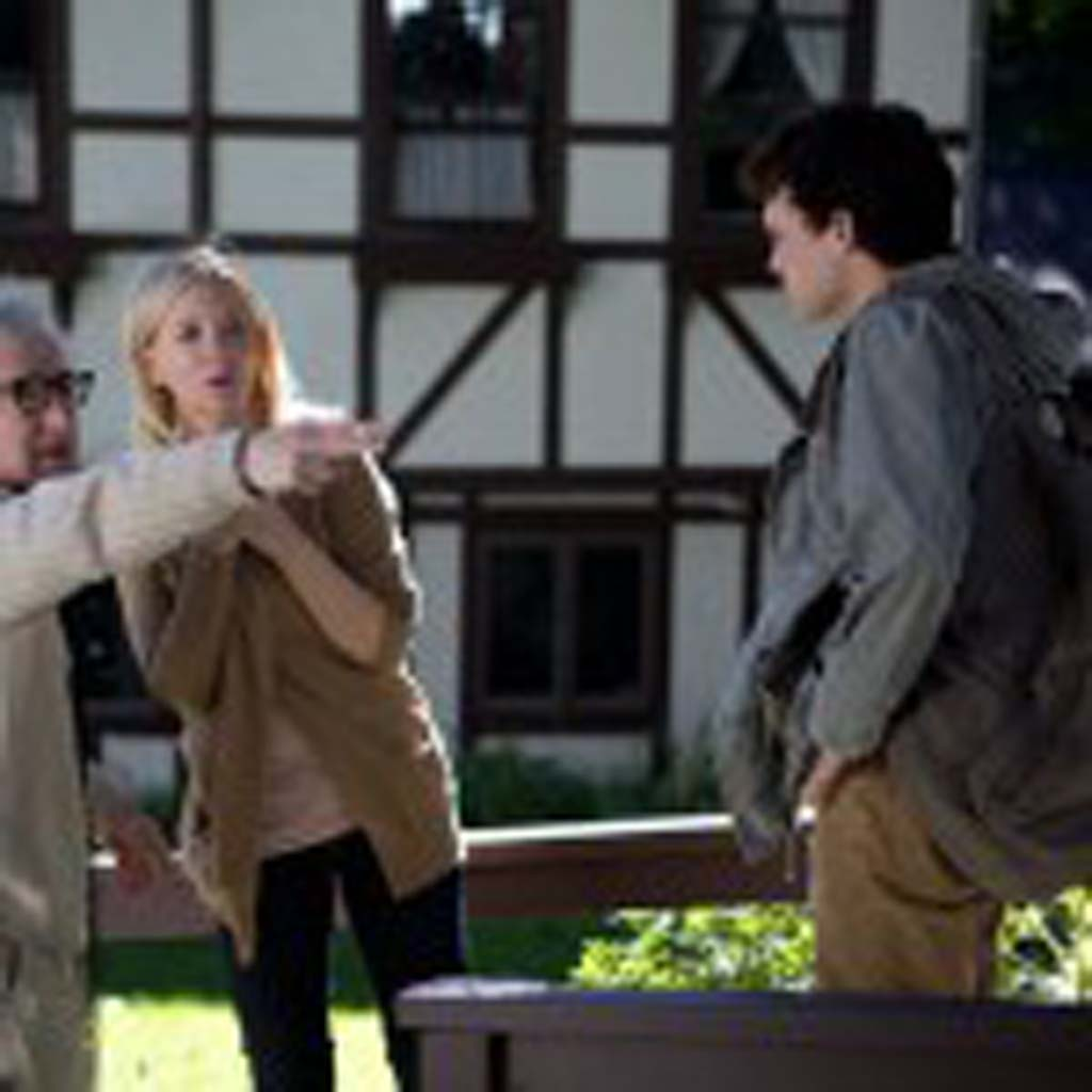"""Woody Allen, left, directs Cate Blanchett and Alden Ehrenreich in """"Blue Jasmine."""" Photo courtesy of Sony Pictures Classics"""