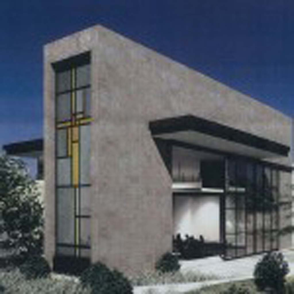 A stained-glass window that will be installed on the new chapel at Solana Beach Presbyterian Church fulfills a city requirement that large developments include public artwork. Courtesy rendering