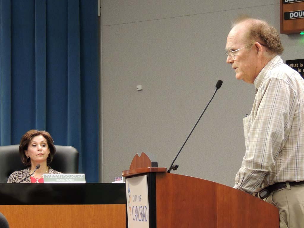 Local animal breeder John Fowler asked City Council to reconsider the cat and dog sales ban. Photo by Rachel Stine