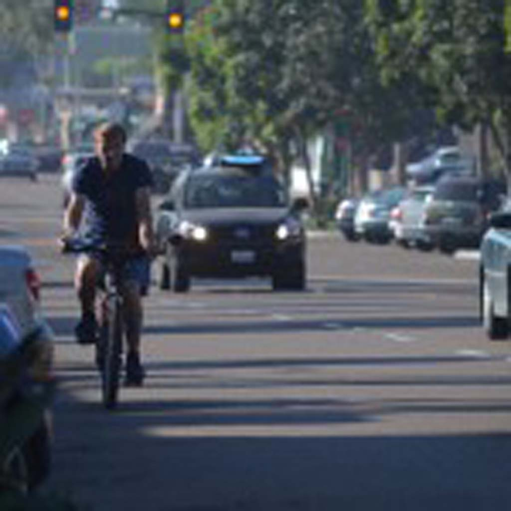 """Gov. Jerry Brown recently signed into law AB 1371 or what's known as the """"Three Feet for Safety Act."""" The new law will require drivers to give bicyclists and other vehicles three feet of space when attempting to pass. Photo by Tony Cagala"""