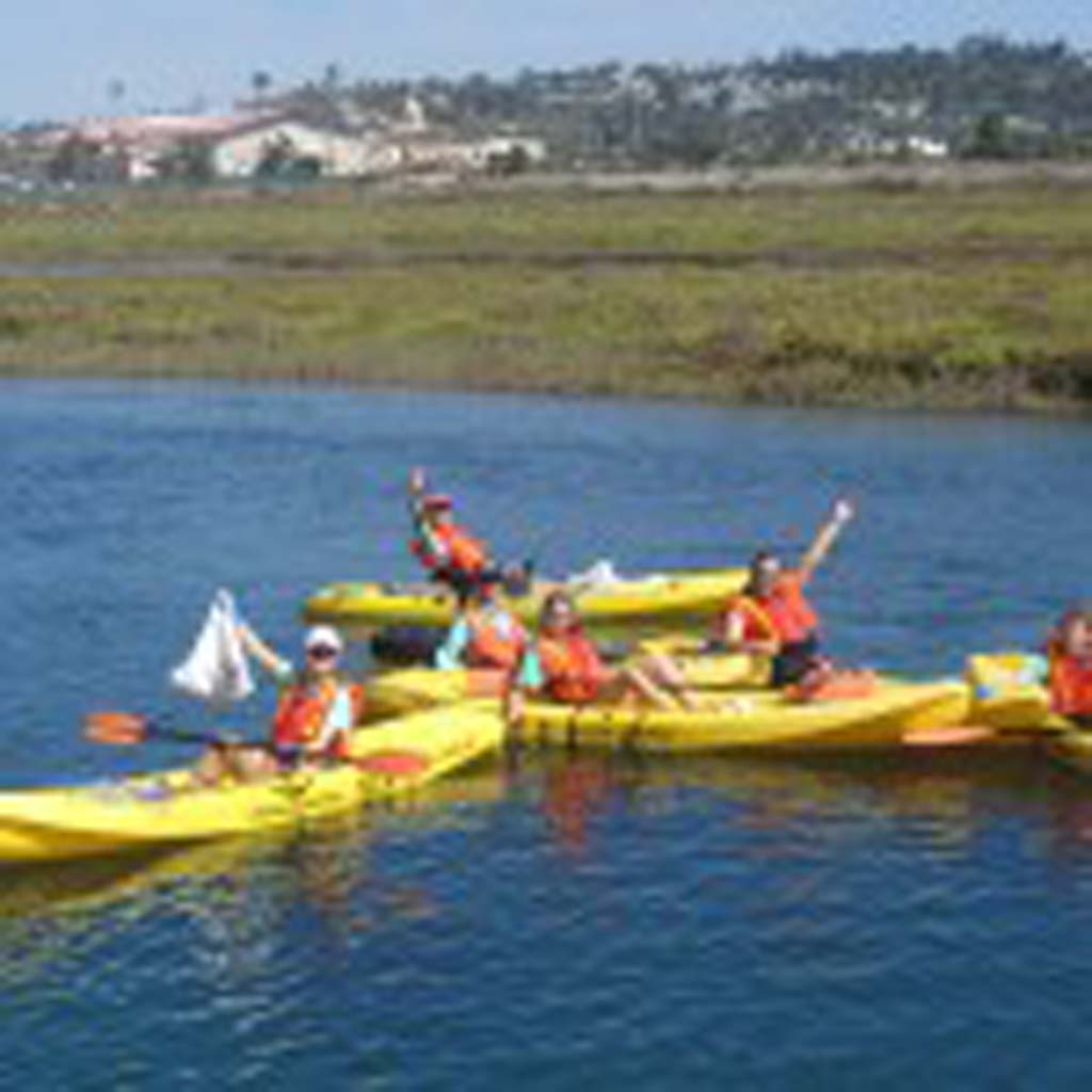 For the first time, and under strict guideline, the California Department of Fish and Wildlife allowed kayaks in the San Dieguito Lagoon to help with the Sept. 21 International Coastal Cleanup Day. Courtesy photo