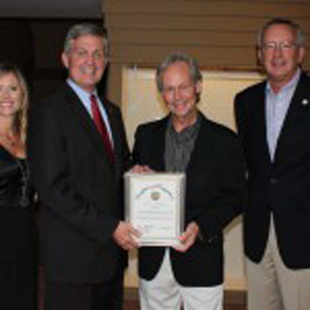 From left: Danielle Deery, OMA Director of Marketing/Curator; Dave Roberts, County Supervisor, District 3; Daniel Foster, OMA Executive Director; Terry Sinnott, Mayor, City of Del Mar. Courtesy photo