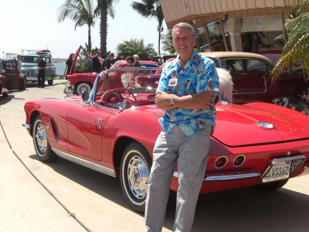 JD Duncan, chairperson with the North Coast Vettes, poses next to his 1962 Corvette at a previous car show. The club is hosting Vettes for Vets, a car show designed to help give back to military veterans Nov. 9 in Carlsbad. The show is free to the public. Courtesy photo