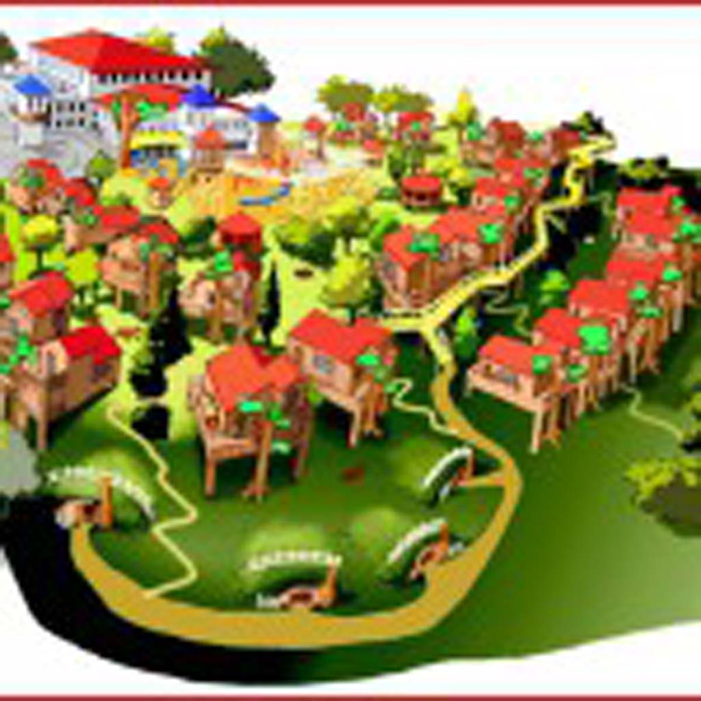 """Legoland presented a vision of tree houses and """"Hobbit lodges"""" with its Adventure Land-themed hotel proposal for the vacant lot being sold by the city and the Carlsbad Municipal Water District. Courtesy rendering"""