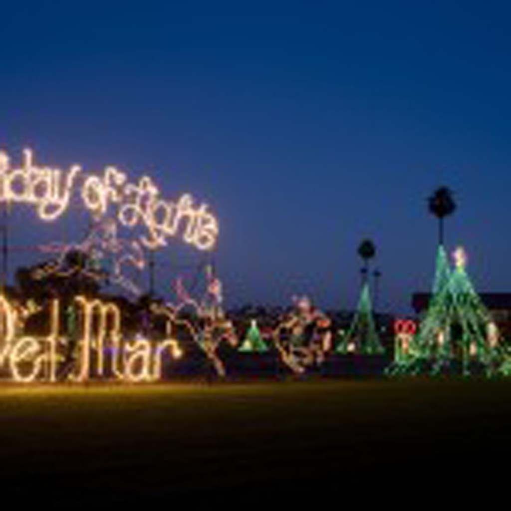 Because of construction happening on the infield, the Del Mar Fairgrounds won't be hosting the 10th annual Holiday of Lights event. File photo by Daniel Knighton