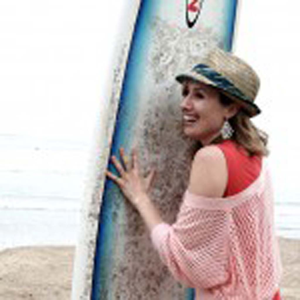 """Tara Brouwer, co-author of the book, """"Everything I Know About Dating I Learned From Surfing,"""" uses tenets from surfing and incorporates them into her dating life. Courtesy photo"""
