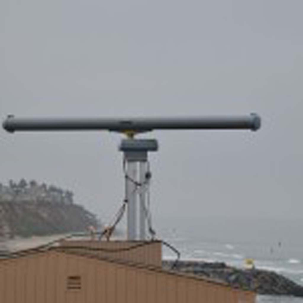 A radar initially meant as a 60-day trial period remains active on Ponto Beach in Carlsbad. The radar was installed in August to help deter maritime smuggling operations. Courtesy photo