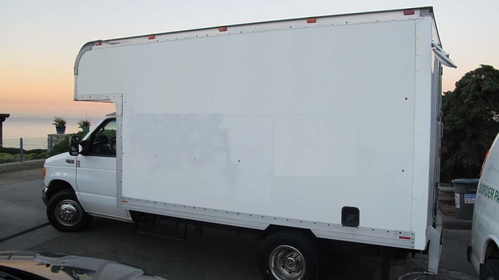 A commercial box truck was also allegedly involved in the transportation of marijuana. Ten men were arrested in the smuggling attempt. Photo courtesy of Border Patrol