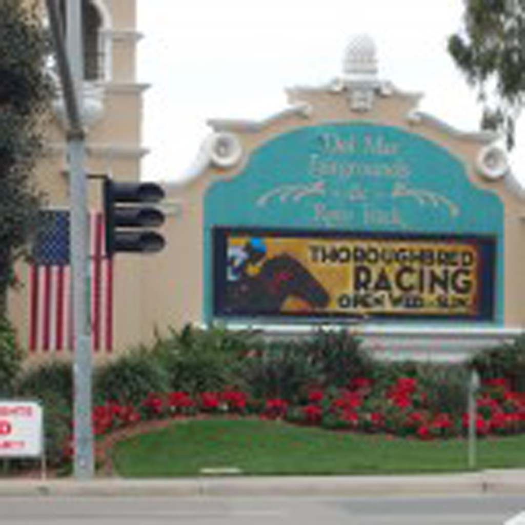 Signs announcing the cancellation of this year's Holiday of Lights encourage potential visitors to come back in 2014. But Del Mar Fairgrounds officials say the popular event will likely not return unless another location is identified. Photo by Bianca Kaplanek