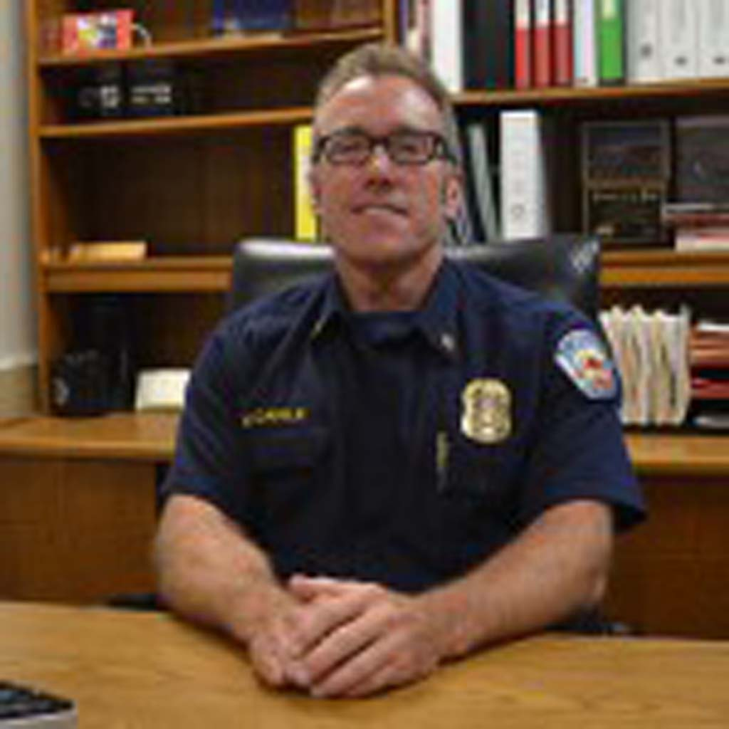 Mike Daigle was recently named the fire chief of Encinitas, Solana Beach and Del Mar. Daigle said serving as interim chief this summer gave him the confidence to apply for the role. Photo by Jared Whitlock
