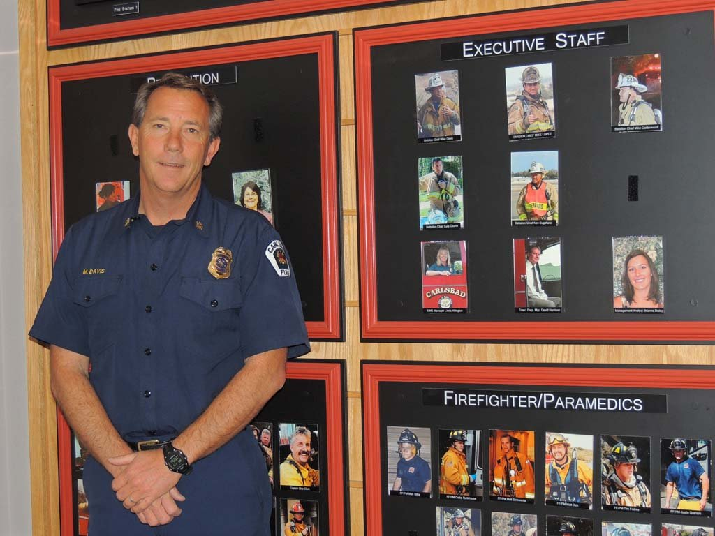 Mike Davis is officially named fire chief for the Carlsbad Fire Department. Davis has been with the department for 23 years. Photo by Rachel Stine