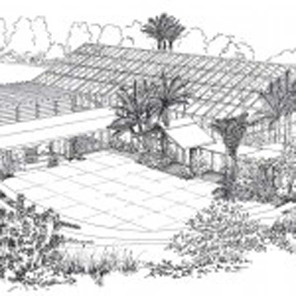 A rendering shows what a planned 9,300-square-foot pavilion for education and events would look like. Image courtesy of San Diego Botanic Garden