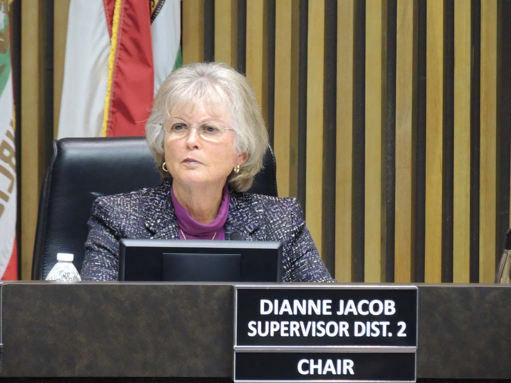Diane Jacob maintained that security would be increased if flight schools and instructors operating out of county airports were required to submit a form stating that they were abiding by federally mandated screening of foreign flight students. Photo by Rachel Stine