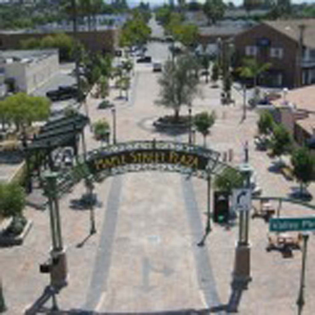 Escondido officials are considering whether to close Maple Street Plaza to vehicles. Photo courtesy of the city of Escondido