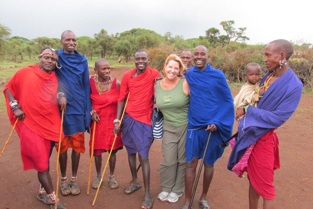 Culture Club Show creator Sharon Lee talks with local Maasai in their village about traditions, village life, culture and customs in Maasai Mara in Kenya. The pilot episode of Culture Club (cultureclubshow.com) will premiere at 1 p.m. April 26 at La Paloma. Courtesy photo