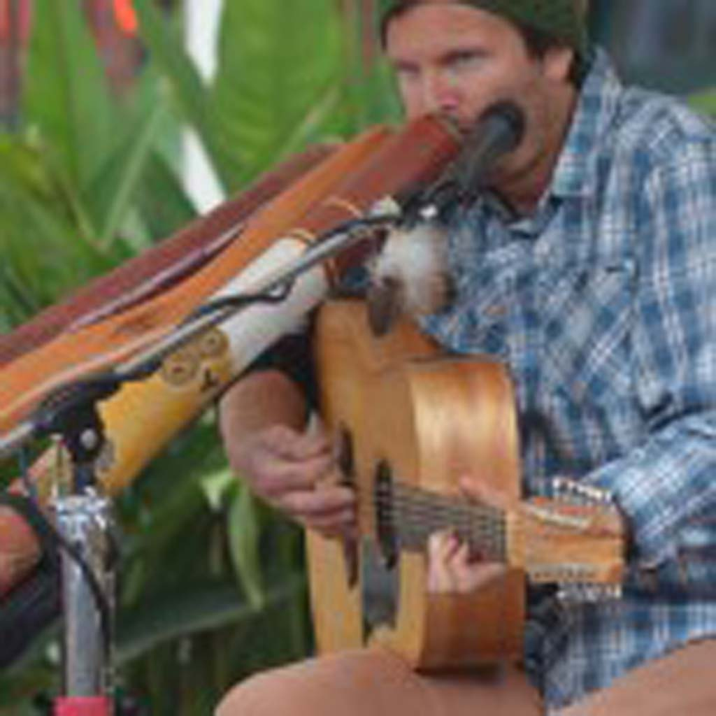 Musician Trevor Green performs on April 26 at the Encinitas Street Fair. Photo by Tony Cagala