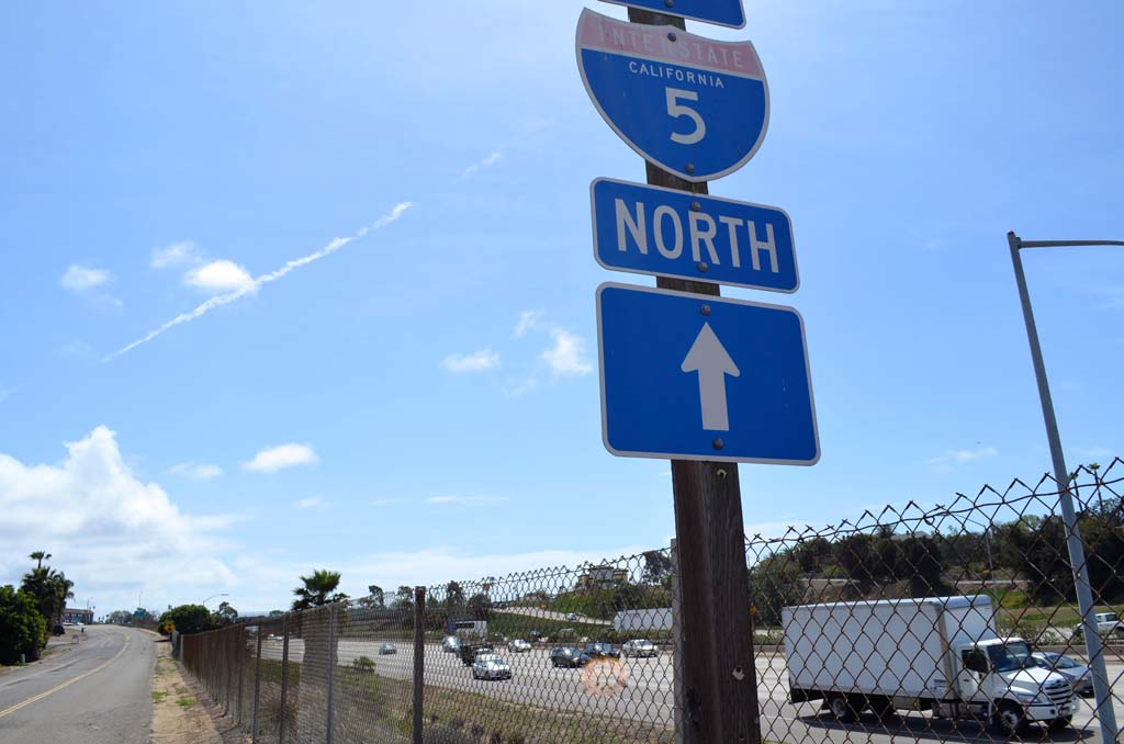 A soundwall is proposed near this spot, which is north of Leucadia Boulevard. The council received an overview of potential soundwalls in Encinitas on Wednesday. Photo by Jared Whitlock