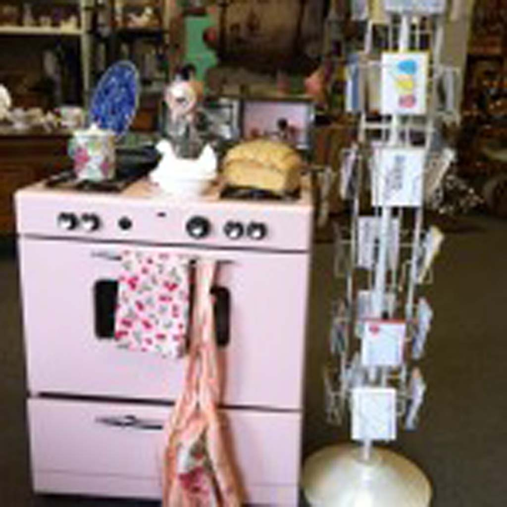 Unique items like this mid-century pink stove (sorry, not for sale) and matching mixer are common treasures found in Healdsburg's irresistible antique stores and boutiques, not far from the central plaza. The downtown is pleasantly walkable, with restaurants, wine-tasting rooms, art galleries and more concentrated within a few blocks. Photo by E'Louise Ondash