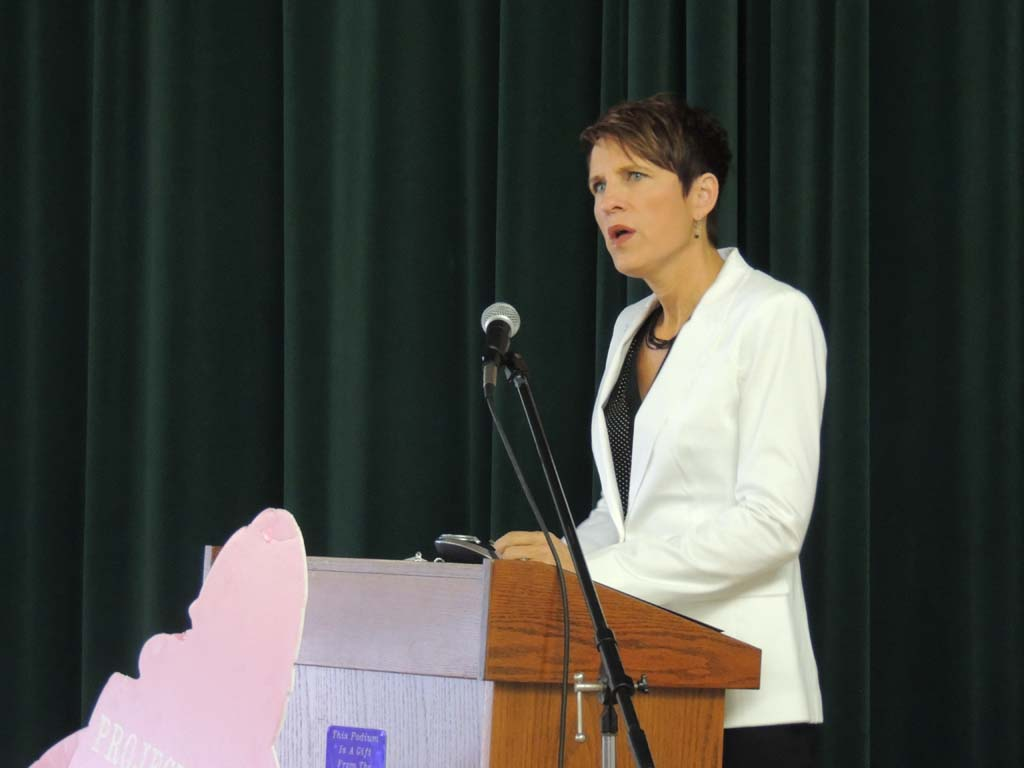 Laura Duffy, the U.S. Attorney for the Southern District of California says the department is setting records every year for the number of human trafficking defendants that are charged and cases that are tried. Photo by Rachel Stine