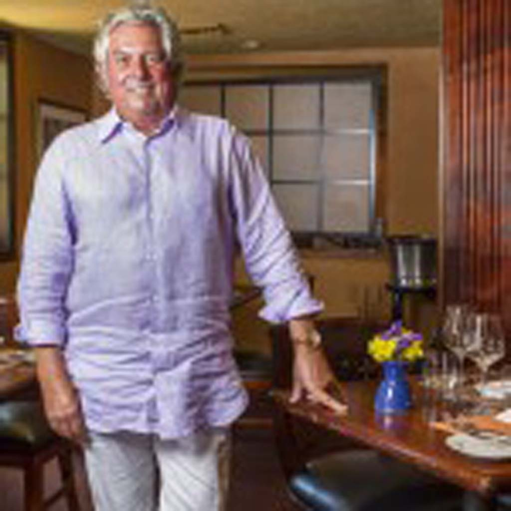 """""""You don't always have to strive for innovation, but you always want to better yourself,"""" says Bertrand Hug, who oversees two award-winning restaurants in Mille Fleurs in Rancho Santa Fe and Mister A's in San Diego. Photo by Bill Reilly"""
