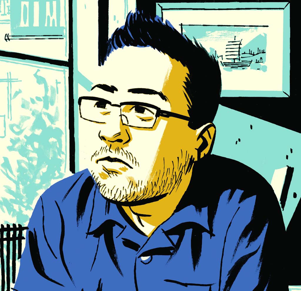 """Author Michael Cho is set to debut his graphic novel """"Shoplifter"""" at this year's Comic-Con. Image courtesy of Michael Cho"""