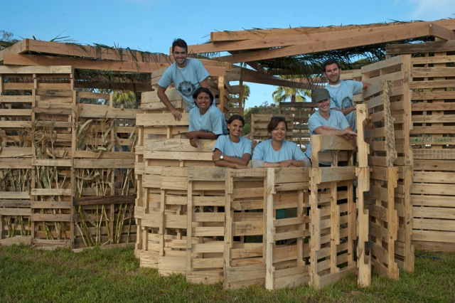 Participants from last year's Sukkah build on the Ranch in Encinitas. This year the Leichtag Foundation is hosting a Sukkah design competition to new ideas on the tradition's-old structures. Courtesy photo