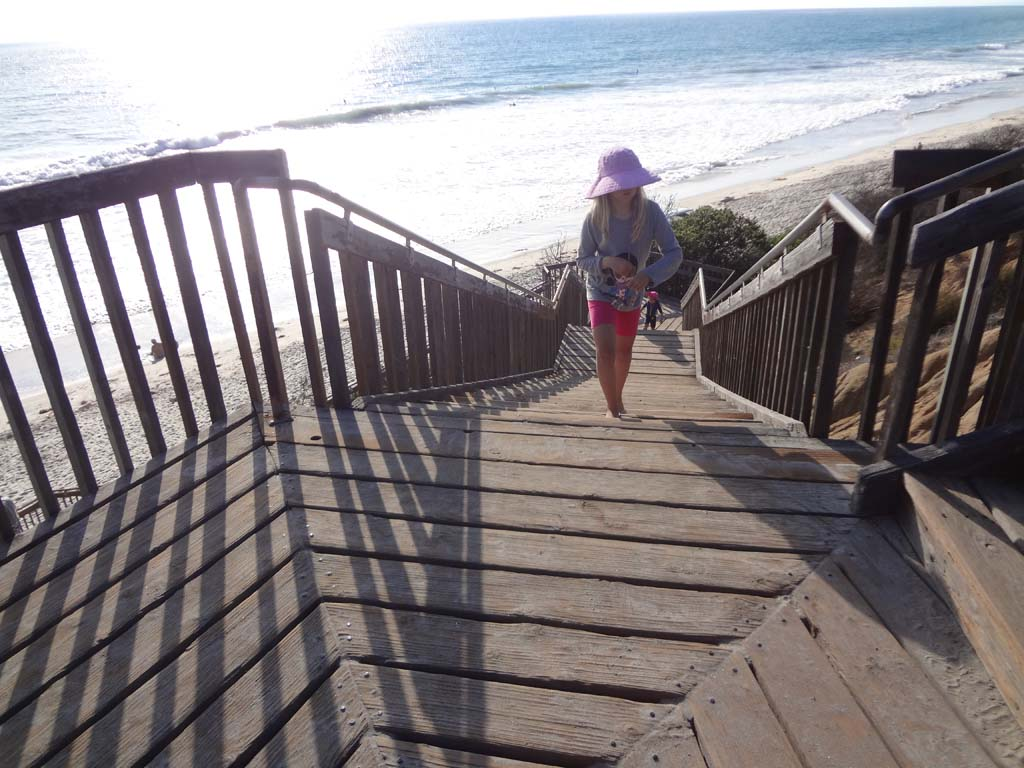 The staircase at South Carlsbad State Beach is just one of the projects The Carlsbad Charitable Foundation helped to fund. Photo by Ellen Wright