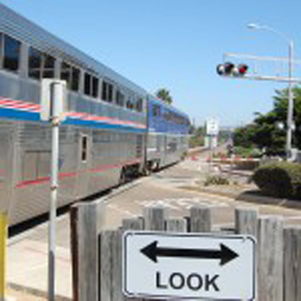 The wayside horns at the Coast Boulevard train crossing will sound an extra five seconds beginning Aug. 15 to comply with modifications by the Federal Railroad Administration, which regulates the systems. It's the second such increase since the wayside horns were installed in September 2012. File photo by Bianca Kaplanek