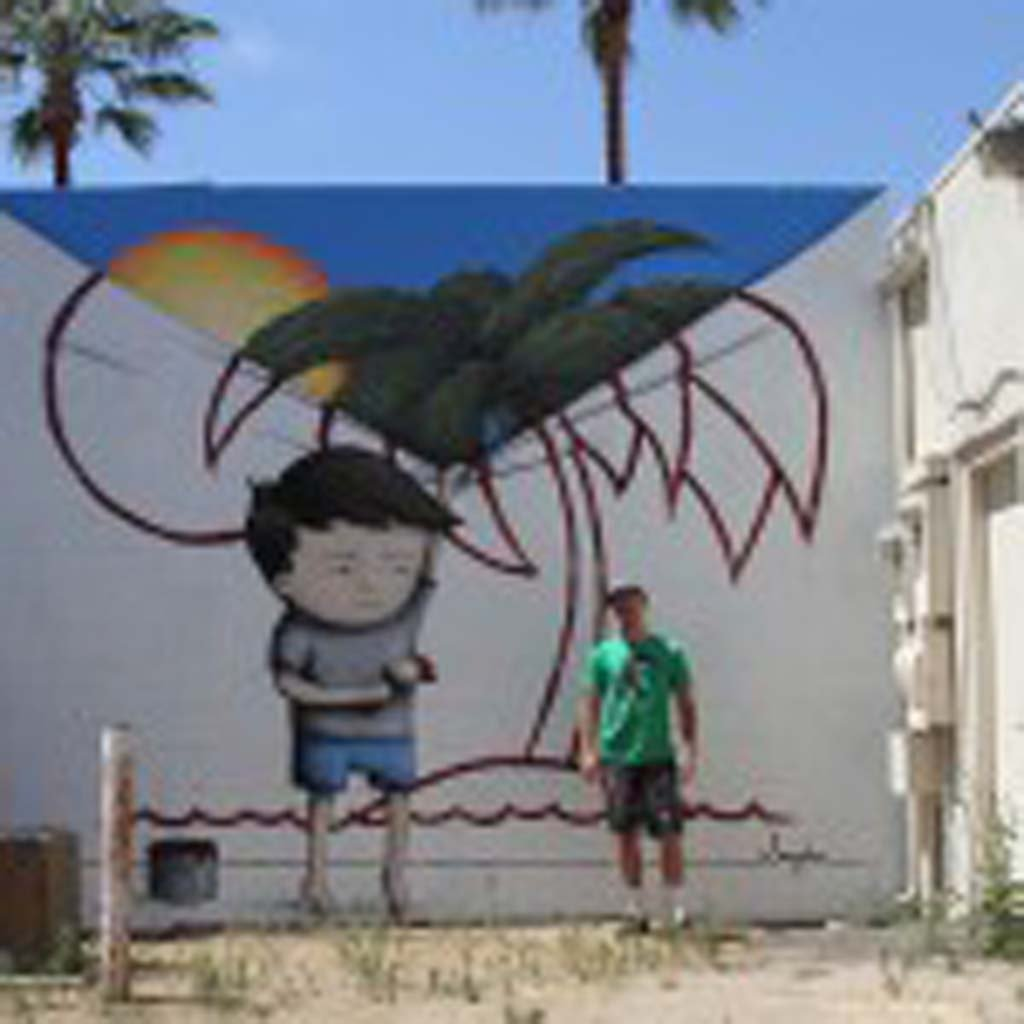 Carlsbad artist Bryan Snyder will be painting a new mural featuring his Doodle character this weekend, along with an art scavenger hunt throughout the Village in Carlsbad. Photo by Bryan Snyder