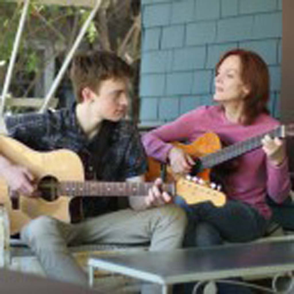 """Shane (Finneas O'Connell) and Laura (Maggie Baird) share a moment in """"Life Inside Out."""" Courtesy photo"""