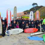 Standing fourth from right, Club President Marcelo Lobos with members of the 2013 Swami's Surfing Association Club members. Photo by Bob Coletti