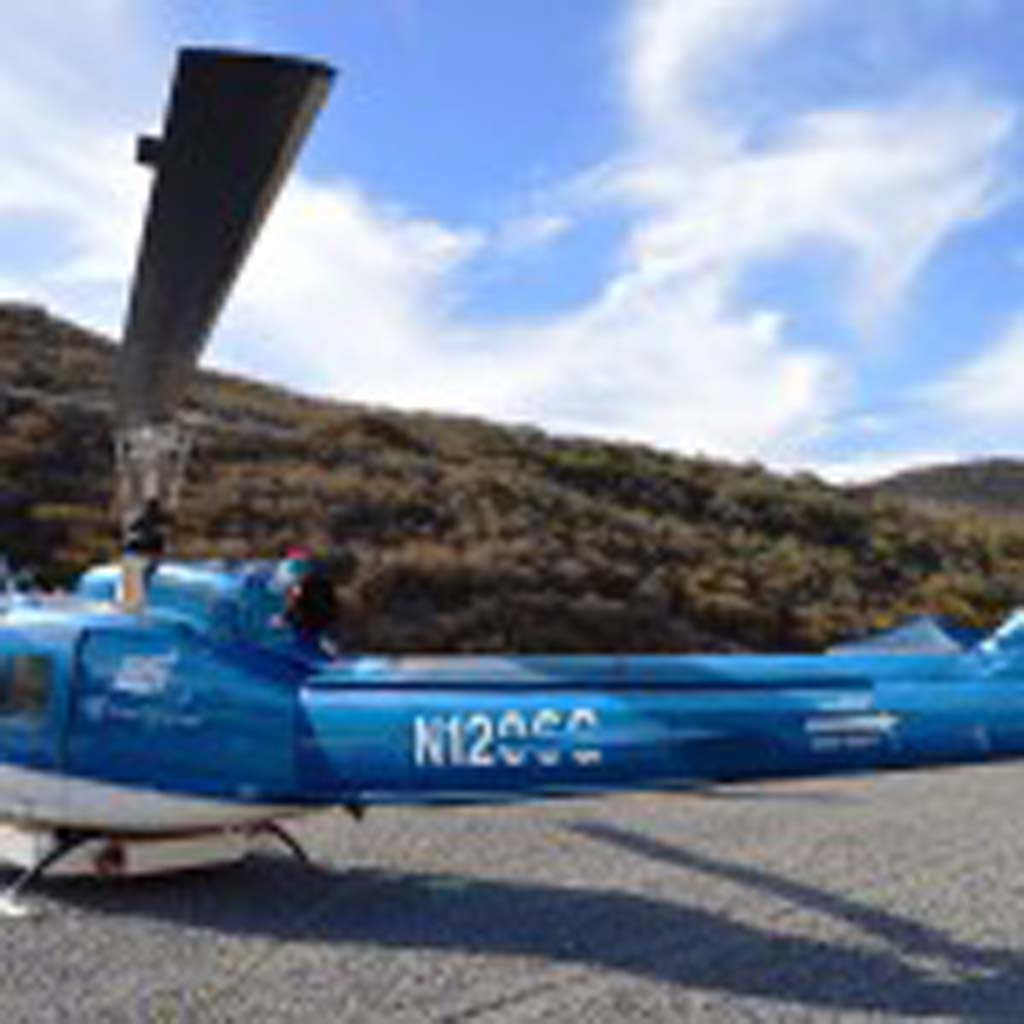 A Type II firefighting helicopter will be staged at the Olivenhain Municipal Water District's David C. McCollom Water Treatment Plant in North County during red flag warning days. Courtesy photo