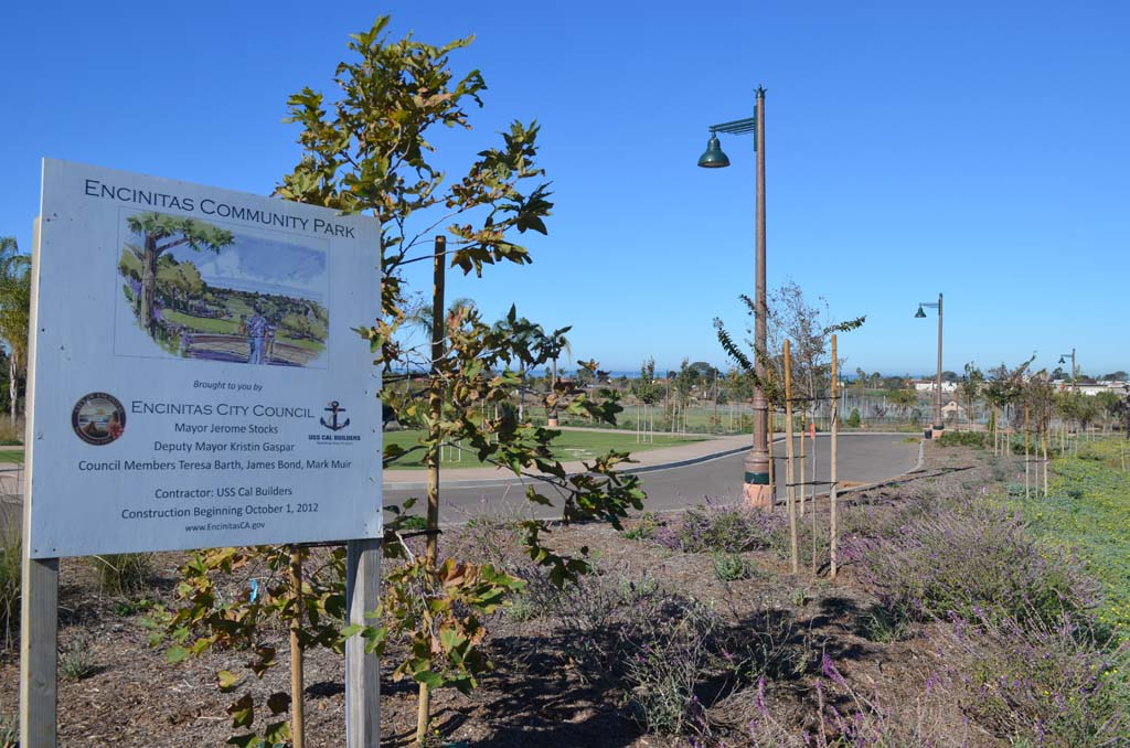 The city has set a date, Jan. 10, for the grand opening of the long-awaited Encinitas Community Park. Photo by Tony Cagala