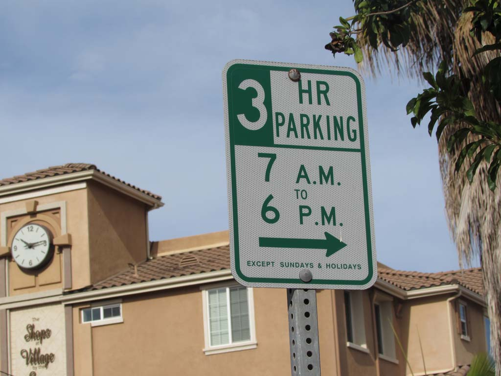 Parking in the Village has an unenforced time limit of three hours. Offenders face a $50 fine, although it's currently not being monitored. Photo by Ellen Wright