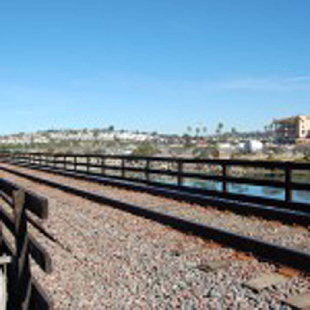 In a letter to the San Diego Association of Governments, Del Mar officials are asking that an environmental assessment for a project to replace the nearly 100-year-old railroad bridge west of the Del Mar Fairgrounds be revised and reissued because it does not adequately mitigate impacts or address the need for a special events train platform. Photo by Bianca Kaplanek
