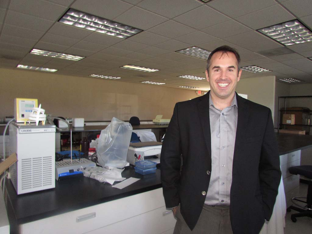 Bio, Tech and Beyond co-founder Joseph Jackson believes the biotech industry is on the verge of major innovations to the systemic structure. The incubator has just expanded its space. Photo by Ellen Wright