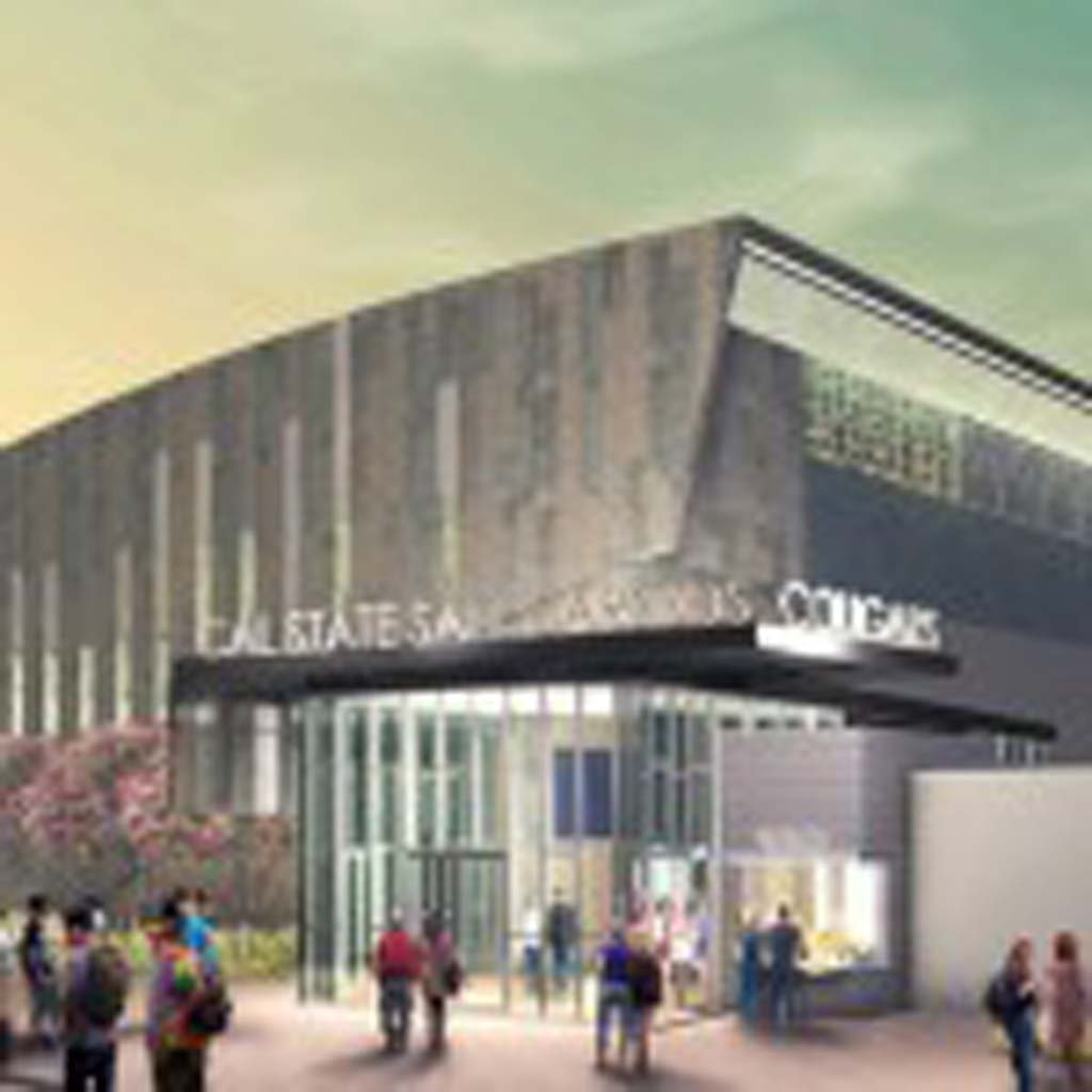Preparations for a new sports center on the campus of Cal State University San Marcos are underway. Image courtesy Cal State University San Marcos
