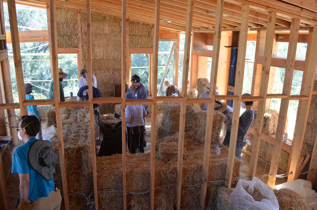 The construction is in Phase II of a three-phase project to build new eco-friendly homes for the sisters at Deer Park Monastery in Escondido. Photo by Tony Cagala